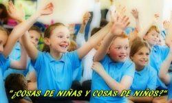 Obra sobre la libertad de elección en  niños y niñas (9 personajes)